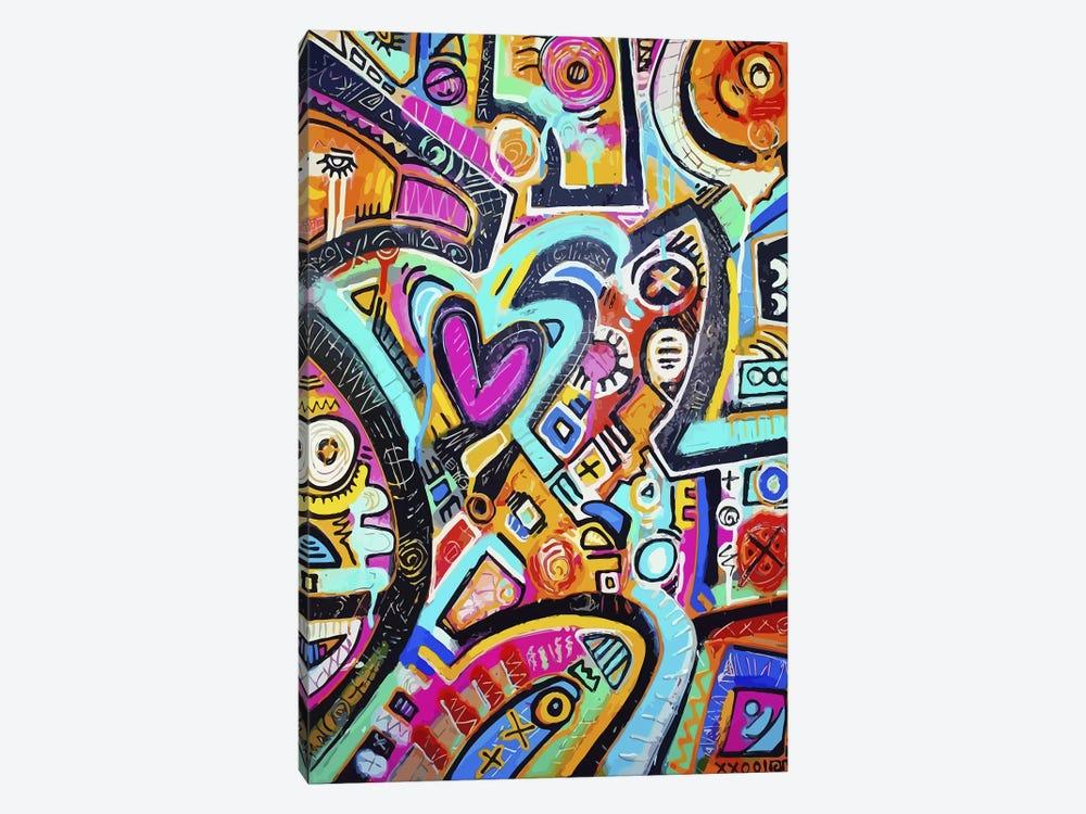 Peacock Love Shimmy by Alloyius McIlwaine 1-piece Canvas Art