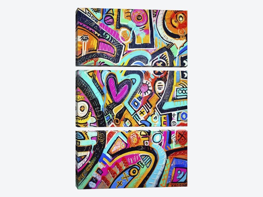 Peacock Love Shimmy by Alloyius McIlwaine 3-piece Canvas Artwork