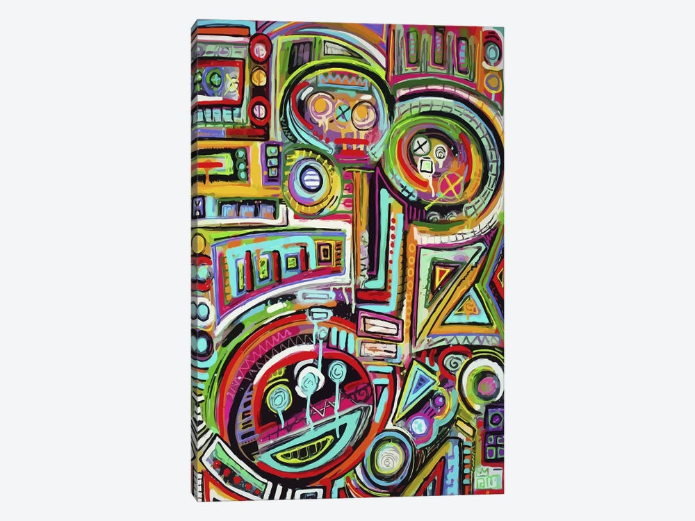 Peeling Rubix Cube Stickers by Alloyius McIlwaine 1-piece Canvas Print
