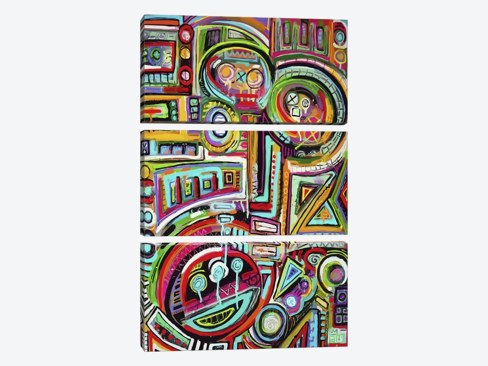 Peeling Rubix Cube Stickers by Alloyius McIlwaine 3-piece Art Print