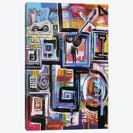 The Future is Now at Midnight Canvas Print #ALM17} by Alloyius McIlwaine Canvas Artwork