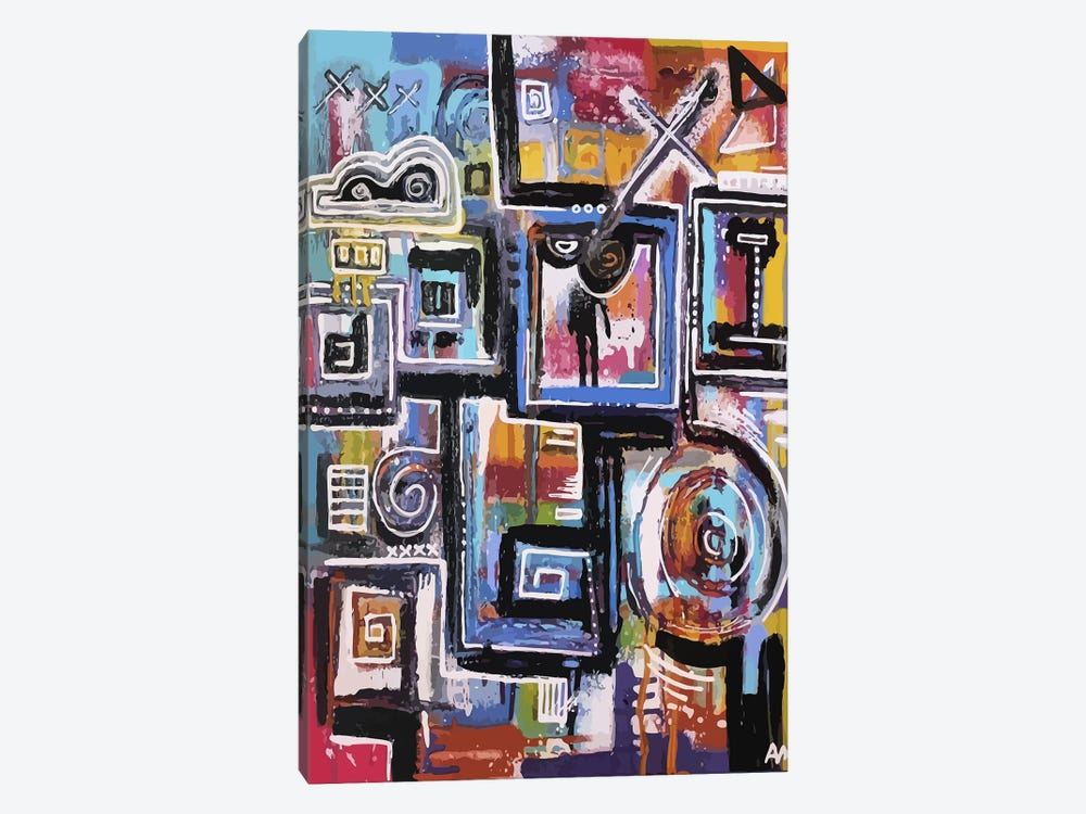 The Future is Now at Midnight by Alloyius McIlwaine 1-piece Canvas Art