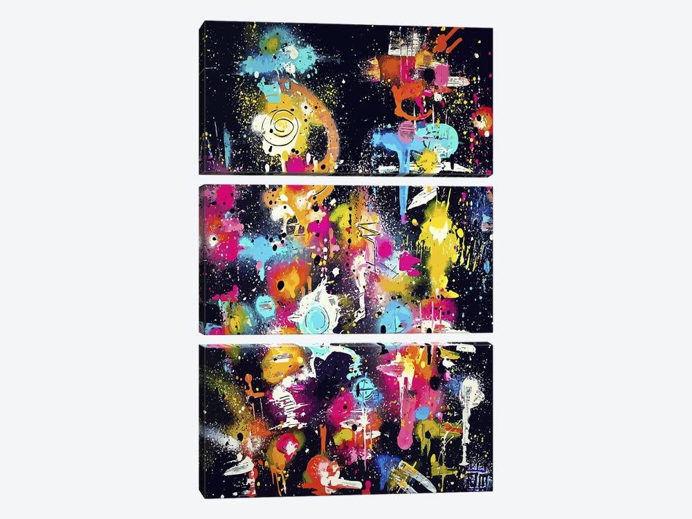The Lovers The Dreamers & Me by Alloyius McIlwaine 3-piece Canvas Art Print