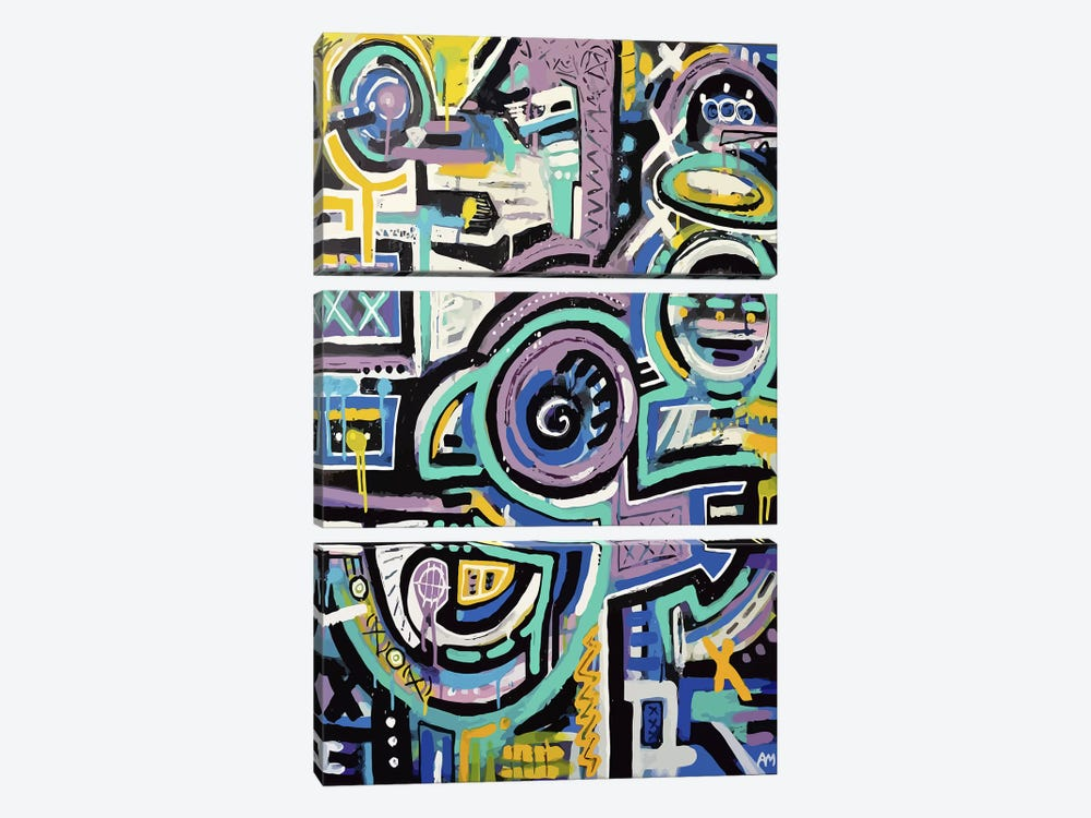 Totem 2025 by Alloyius McIlwaine 3-piece Canvas Art