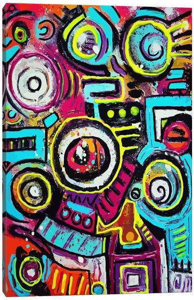 Boom Box Fiesta Canvas Art Print