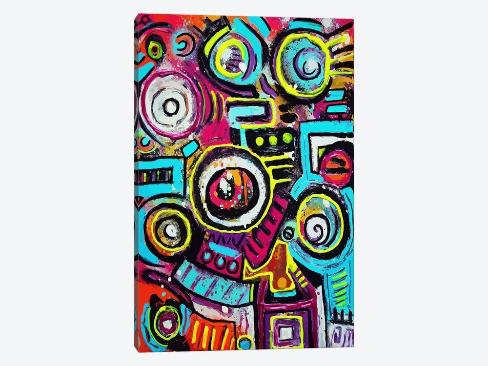 Boom Box Fiesta by Alloyius McIlwaine 1-piece Art Print