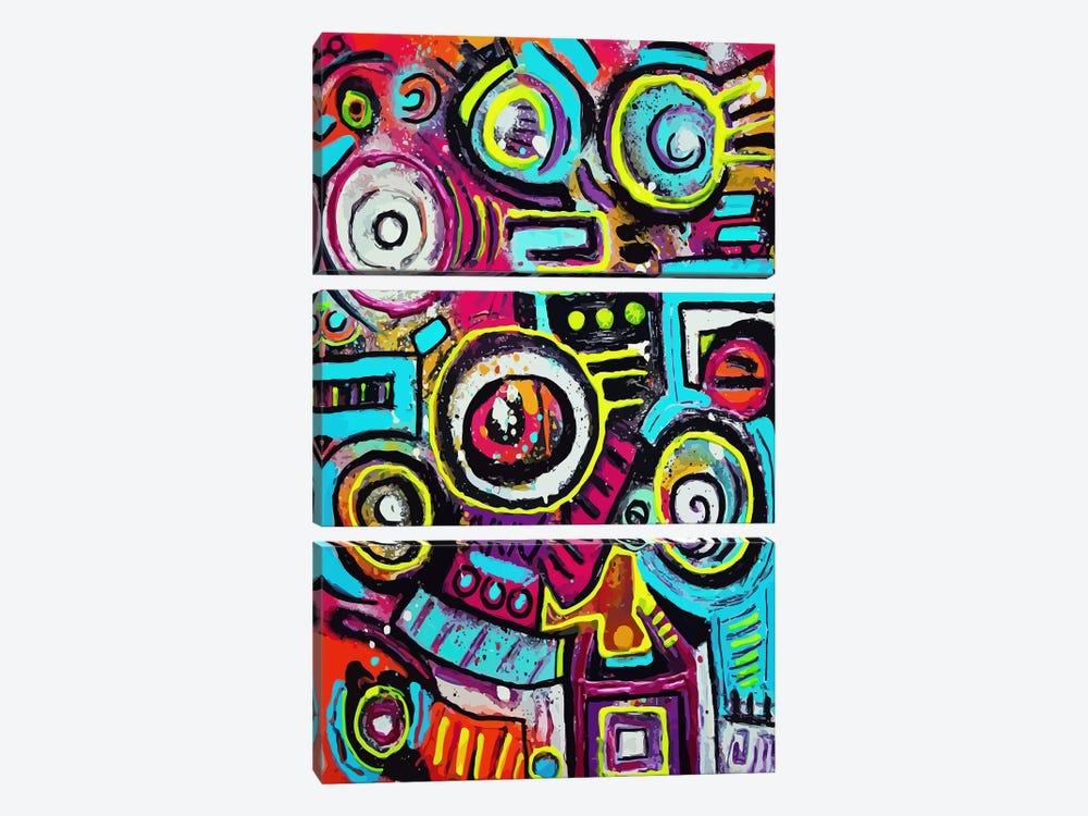 Boom Box Fiesta by Alloyius McIlwaine 3-piece Canvas Print