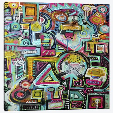 Counting Sideways 8's Canvas Print #ALM5} by Alloyius McIlwaine Canvas Wall Art