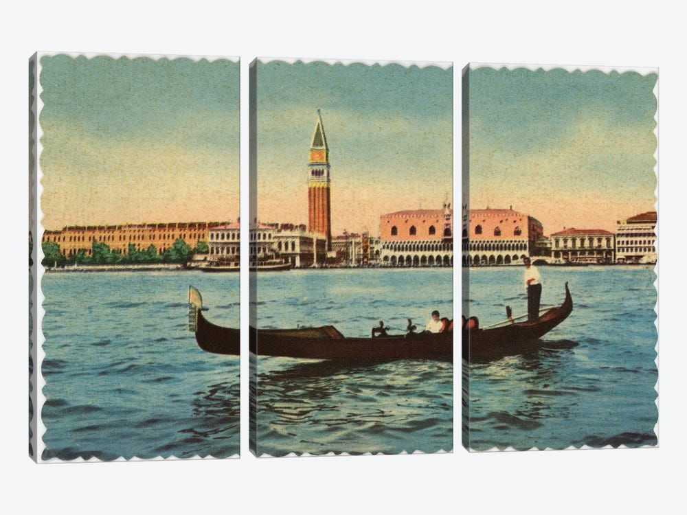 Gondola by Alan Paul 3-piece Canvas Print