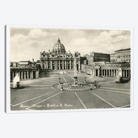 St. Peter's Basilica Canvas Print #ALN3} by Alan Paul Canvas Wall Art