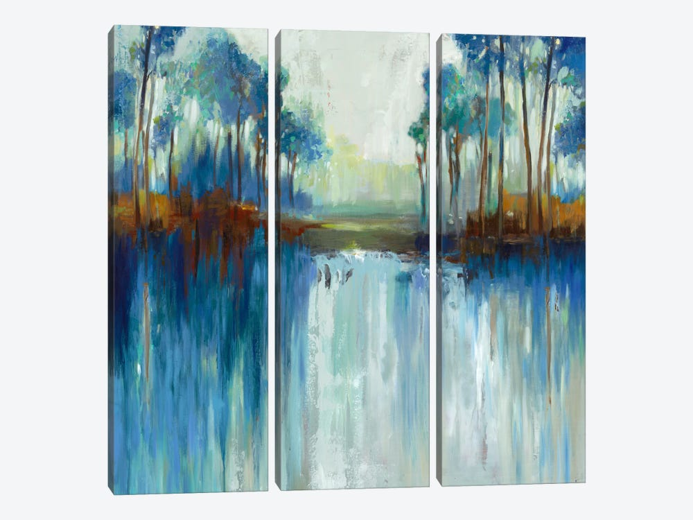 Late Summer Landscape by Allison Pearce 3-piece Canvas Art Print