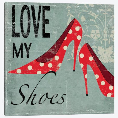 Love My Shoes Canvas Print #ALP119} by Allison Pearce Canvas Wall Art