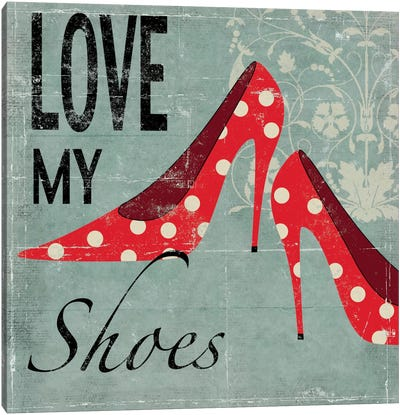 Love My Shoes Canvas Art Print