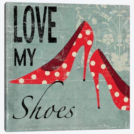 Love My Shoes Canvas Print #ALP119} by Allison Pearce Canvas Wall Art