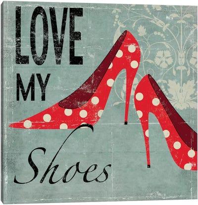 Love My Shoes Canvas Art Print