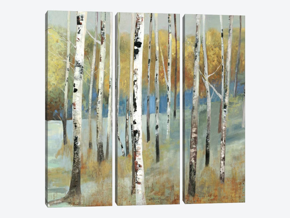 On The Hill by Allison Pearce 3-piece Canvas Art Print