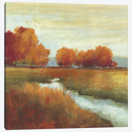 Orange Treescape I Canvas Print #ALP136} by Allison Pearce Art Print