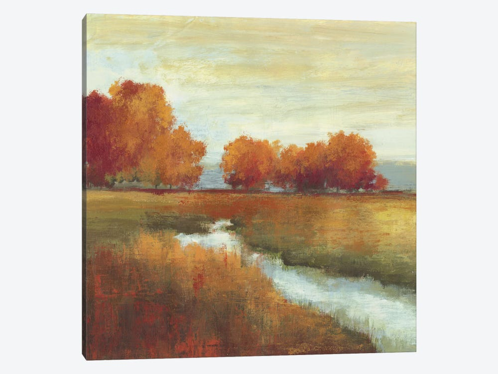 Orange Treescape I by Allison Pearce 1-piece Canvas Wall Art