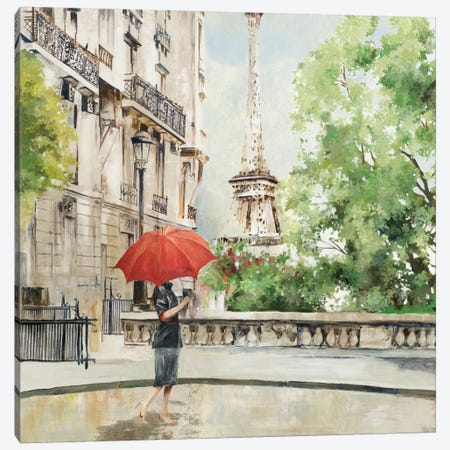 Paris Walk Canvas Print #ALP142} by Allison Pearce Art Print