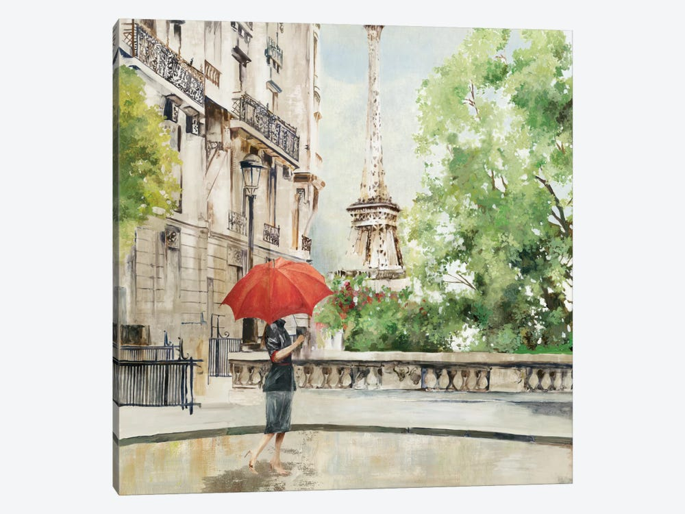 Paris Walk 1-piece Canvas Art Print