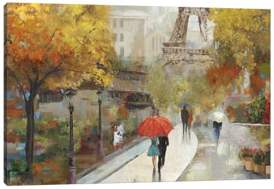 Parisian Avenue Canvas Art Print