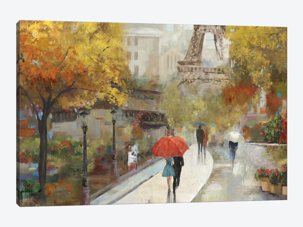 Parisian Avenue by Allison Pearce 1-piece Canvas Wall Art