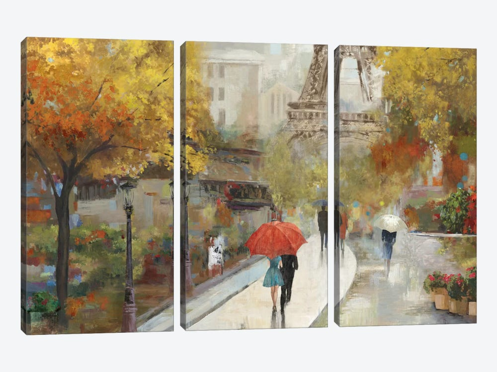 Parisian Avenue by Allison Pearce 3-piece Canvas Artwork