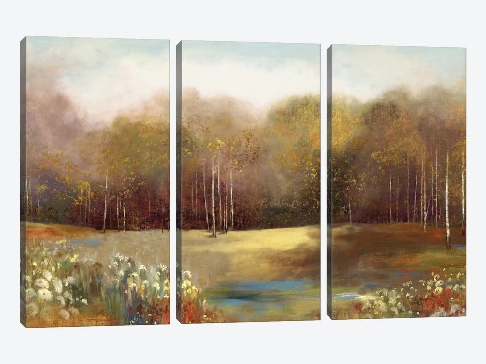 Park Garden by Allison Pearce 3-piece Canvas Art Print