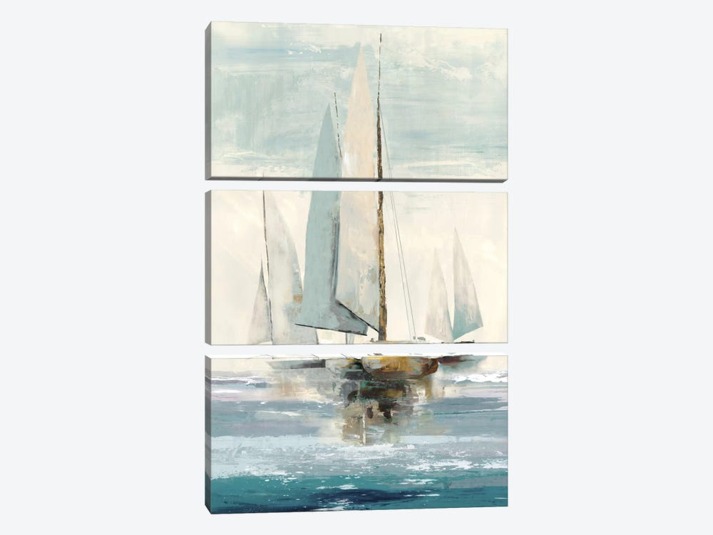 Quiet Boats I by Allison Pearce 3-piece Canvas Wall Art