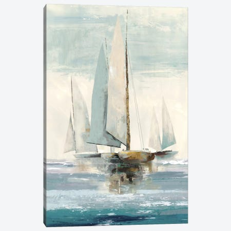 Quiet Boats I Canvas Print #ALP158} by Allison Pearce Canvas Artwork