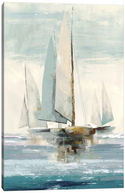 Quiet Boats I Canvas Art Print