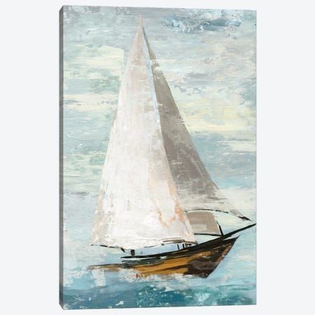 Quiet Boats II Canvas Print #ALP159} by Allison Pearce Canvas Artwork