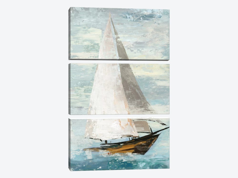 Quiet Boats II by Allison Pearce 3-piece Canvas Art Print