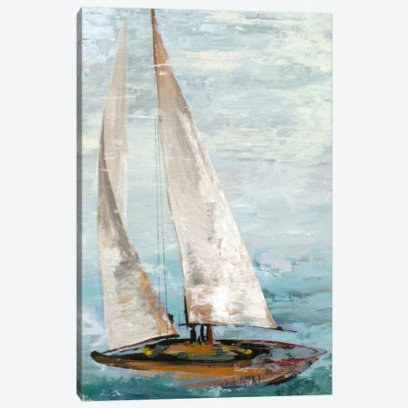 Quiet Boats III Canvas Print #ALP160} by Allison Pearce Art Print