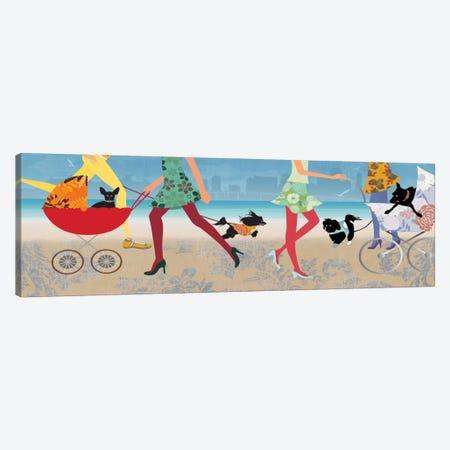 Stroller Dogs I Canvas Print #ALP192} by Allison Pearce Canvas Art