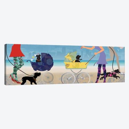 Stroller Dogs II Canvas Print #ALP193} by Allison Pearce Canvas Art