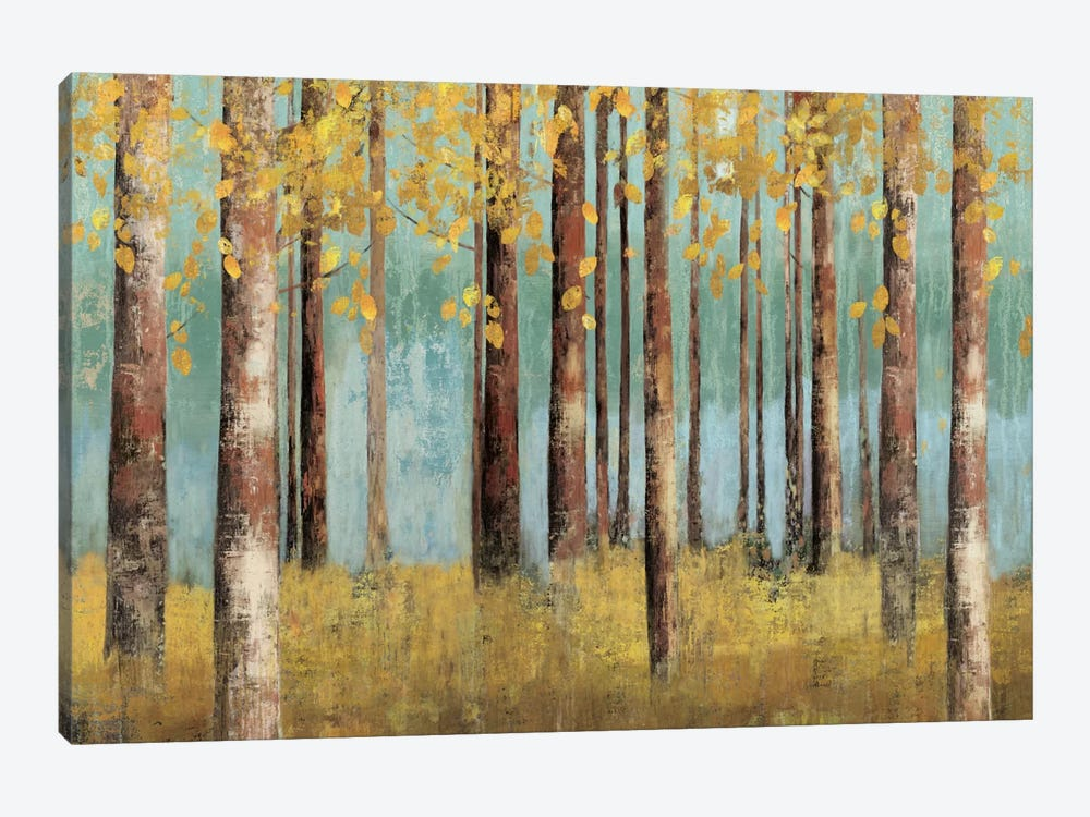 Teal Birch by Allison Pearce 1-piece Canvas Wall Art