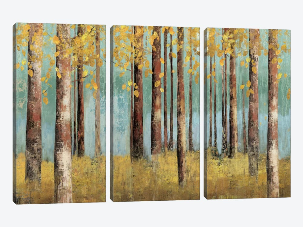 Teal Birch by Allison Pearce 3-piece Canvas Artwork