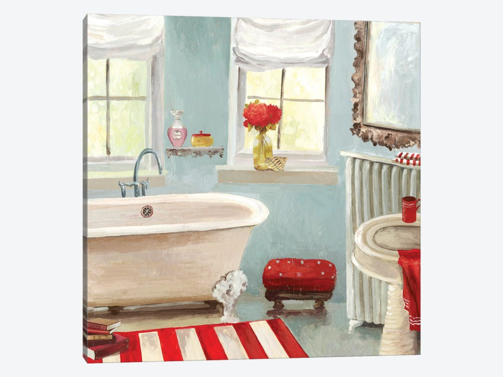Tranquil Bath II by Allison Pearce 1-piece Canvas Print