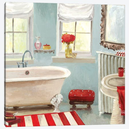 Tranquil Bath II Canvas Print #ALP219} by Allison Pearce Art Print