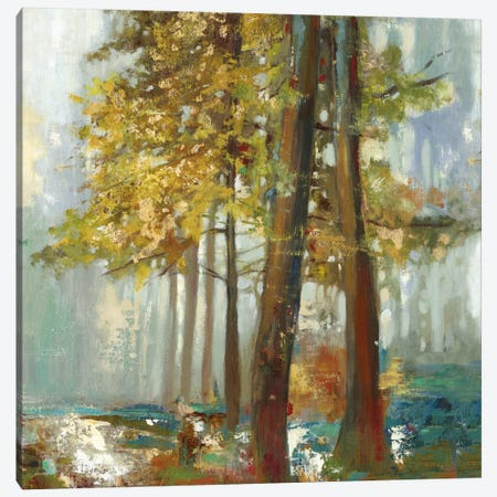 Upon The Leaves I, Square Canvas Print #ALP225} by Allison Pearce Art Print