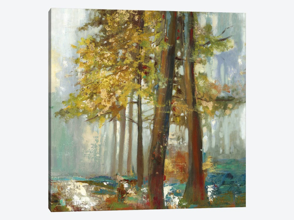 Upon The Leaves I, Square 1-piece Canvas Wall Art