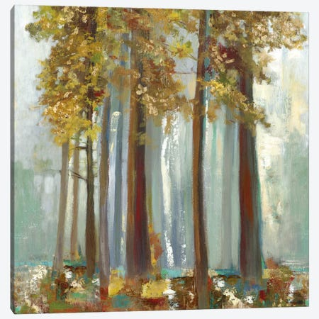 Upon The Leaves II, Square Canvas Print #ALP226} by Allison Pearce Art Print