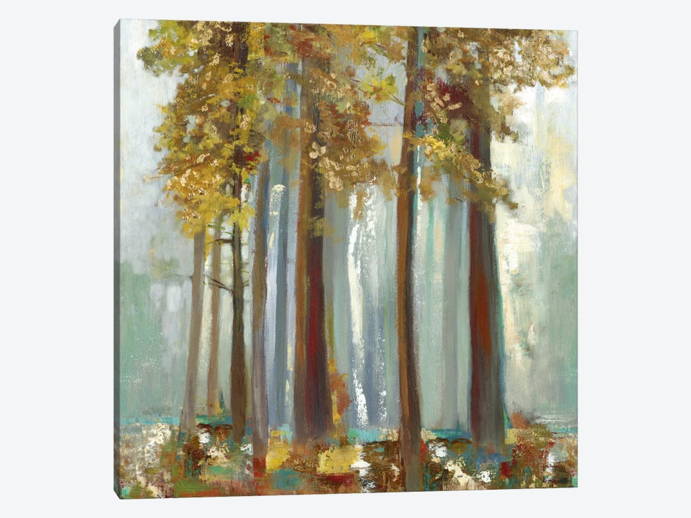 Upon The Leaves II, Square by Allison Pearce 1-piece Canvas Print