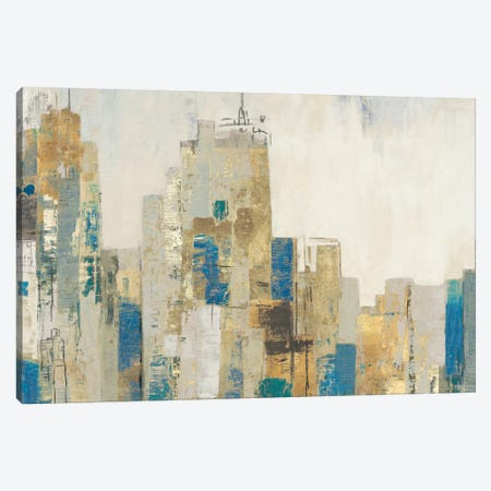 Wide City Blues Canvas Print #ALP228} by Allison Pearce Canvas Artwork