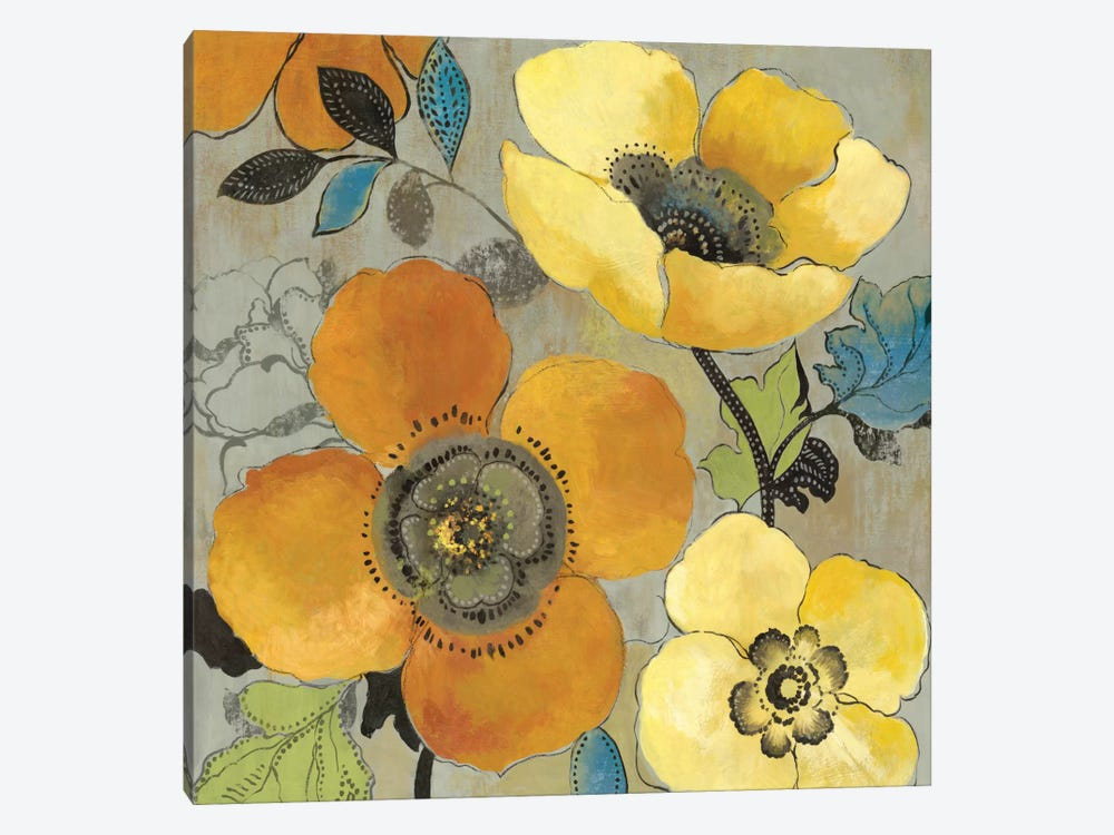Yellow And Orange Poppies I by Allison Pearce 1-piece Canvas Artwork