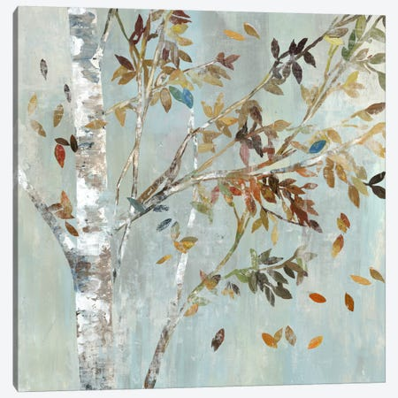 Birch With Leaves I 3-Piece Canvas #ALP22} by Allison Pearce Canvas Art Print