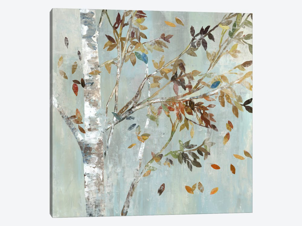 Birch With Leaves I by Allison Pearce 1-piece Canvas Artwork
