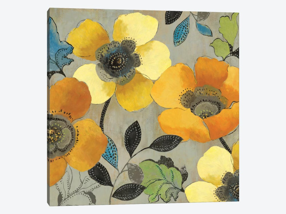 Yellow And Orange Poppies II by Allison Pearce 1-piece Canvas Wall Art