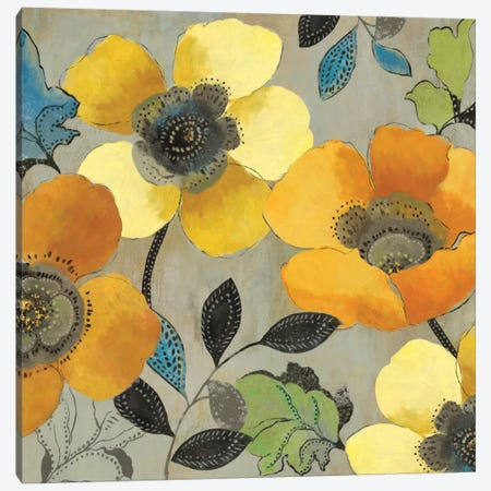 Yellow And Orange Poppies II Canvas Print #ALP230} by Allison Pearce Canvas Art Print